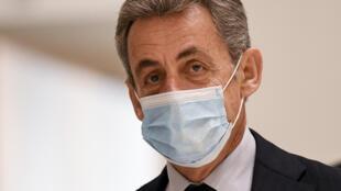 Nicolas Sarkozy no último dia de julgamento, 10 de Dezembro de 2020 no tribunal de Paris