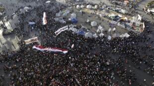 Les opposants aux président Morsi se sont regroupés place Tahrir au Caire.