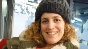 Heidi Steinhardt en los estudios de RFI