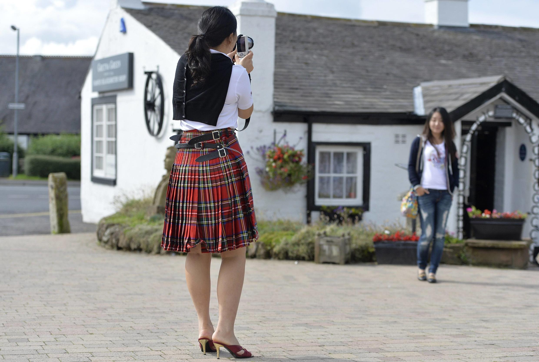 Turistas chinas en el sur de Escocia, en agosto de 2013.