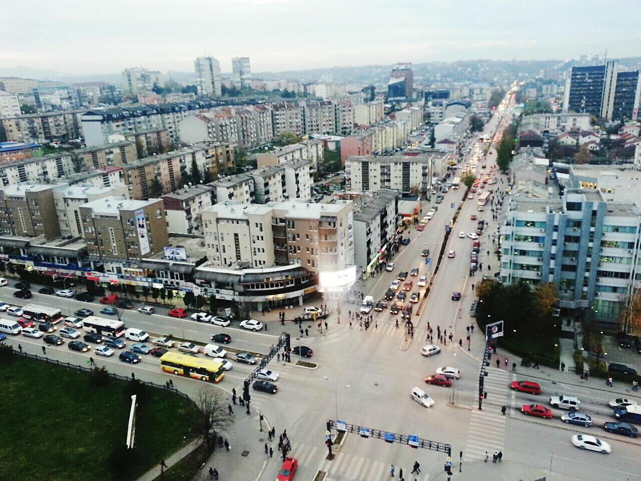 Vue de Pristina.