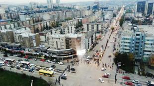 Une vue de Pristina, capitale du Kosovo.