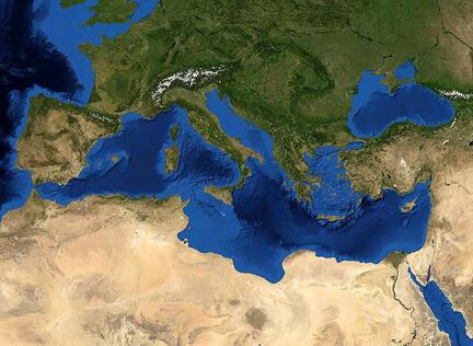Địa Trung Hải, nơi hàng ngàn người thiệt mạng, khi tìm được sang Châu Âu.