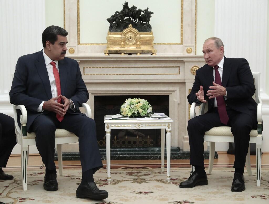 Nicolas Maduro a rencontré le président russe Vladimir Poutine, le 25 septembre 2019.