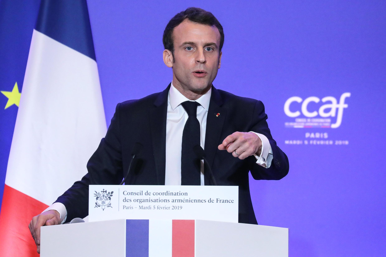 Эмманюэль Макрон на ежегодном ужине Координационного совета армянских организаций Франции, 5 февраля 2019