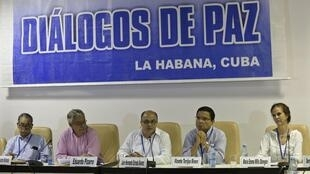 Les négociations de paix, à La Havane, seraient dans une phase «décisive» depuis l'arrivée du chef FARC Joaquin Gomez. (Photo: La Havane, le 21 août 2014).