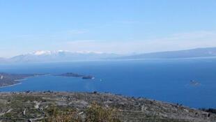 Panorama del mar Adriático en Croacia