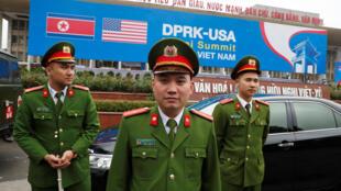 Hà Nội tăng cường an ninh chuẩn bị cho thượng đỉnh Trump -Kim. Ảnh ngày 23/02/2019.