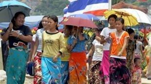 Người tỵ nạn Hmong ở vùng giáp giới với Lào (AFP)