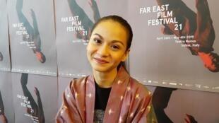 Sharifah Amani, actrice principale du film malaisien «Motif», présenté au 21e Festival international du cinéma populaire asiatique d'Udine, dans le nord-est de l'Italie.