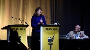 Jo Jorgensen, candidate du Parti libertarien à l'élection présidentielle américaine de 2020.