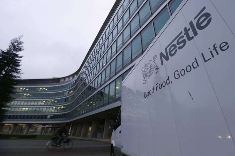 A building belonging to Swiss food company Nestlé