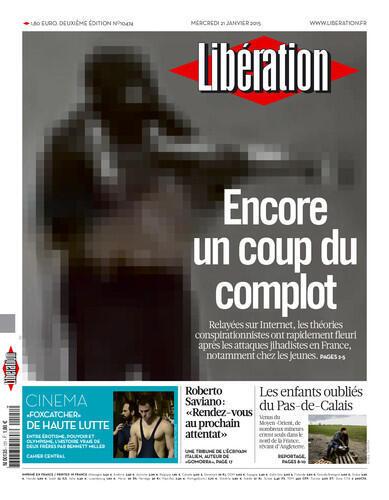 Capa do jornal  francês Liberation desta quarta-feira 21 de janeiro de 2014.