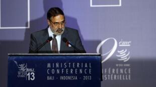 El ministro indio de Comercio Anand Sharma en Bali, este 4 de diciembre de 2013.
