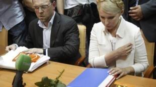 Tsohuwar Prime Ministar  Ukrain Yulia Tymoshenko tare da Lauyanta