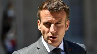 El presidente francés Emmanuel Macron, el 1 de junio de 2021 en París