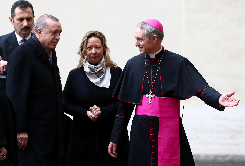 Tổng thống Thổ Nhĩ Kỳ Recep Tayyip Erdogan đến Tòa Thánh Vatican ngày 5/02/2018.