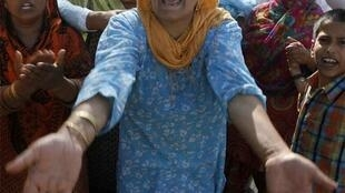 Women on the Srinagar protest