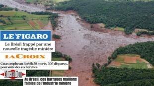 Os principais jornais franceses repercutem a tragédia de Brumadinho.