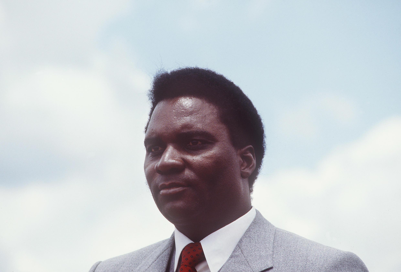 L'attentat contre l'avion du président Juvénal Habyarimana (ici en 1982) marque le début du génocide contre les Tutsis.