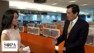 马英九接见大会代表访问时呼吁习近平尊重不同意见
