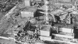 Lò phản ứng số 4 nhà máy Tchernobyl.