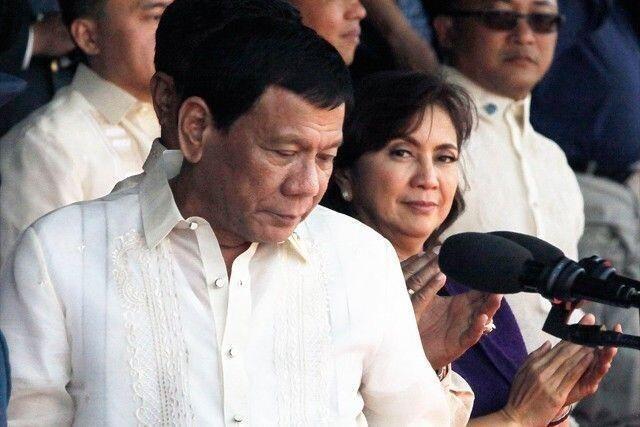 菲律賓總統杜特爾特與副總統萊妮⋅羅布雷資料圖片