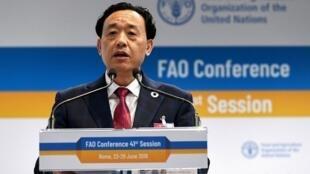 លោកQu Dongyu អគ្គនាយកអង្គការ FAO ទើបជាប់ឆ្នោតថ្មី ថ្ងៃទី ២៣ មិថុនា ២០១៩