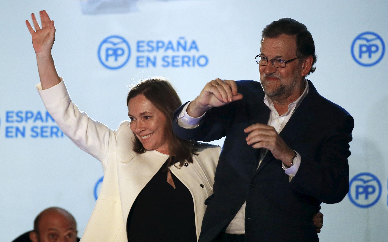 El presidente de gobierno y líder del Partido Popular,  Mariano Rajoy tras el anuncio de los resultados electores del domingo 20 de diciembre de 2015.