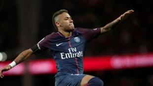 L'attaquant brésilien du PSG, Neymar.