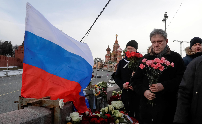 Григорий Явлинский на акции памяти Бориса Немцова. 26 февраля 2017 г. Москва