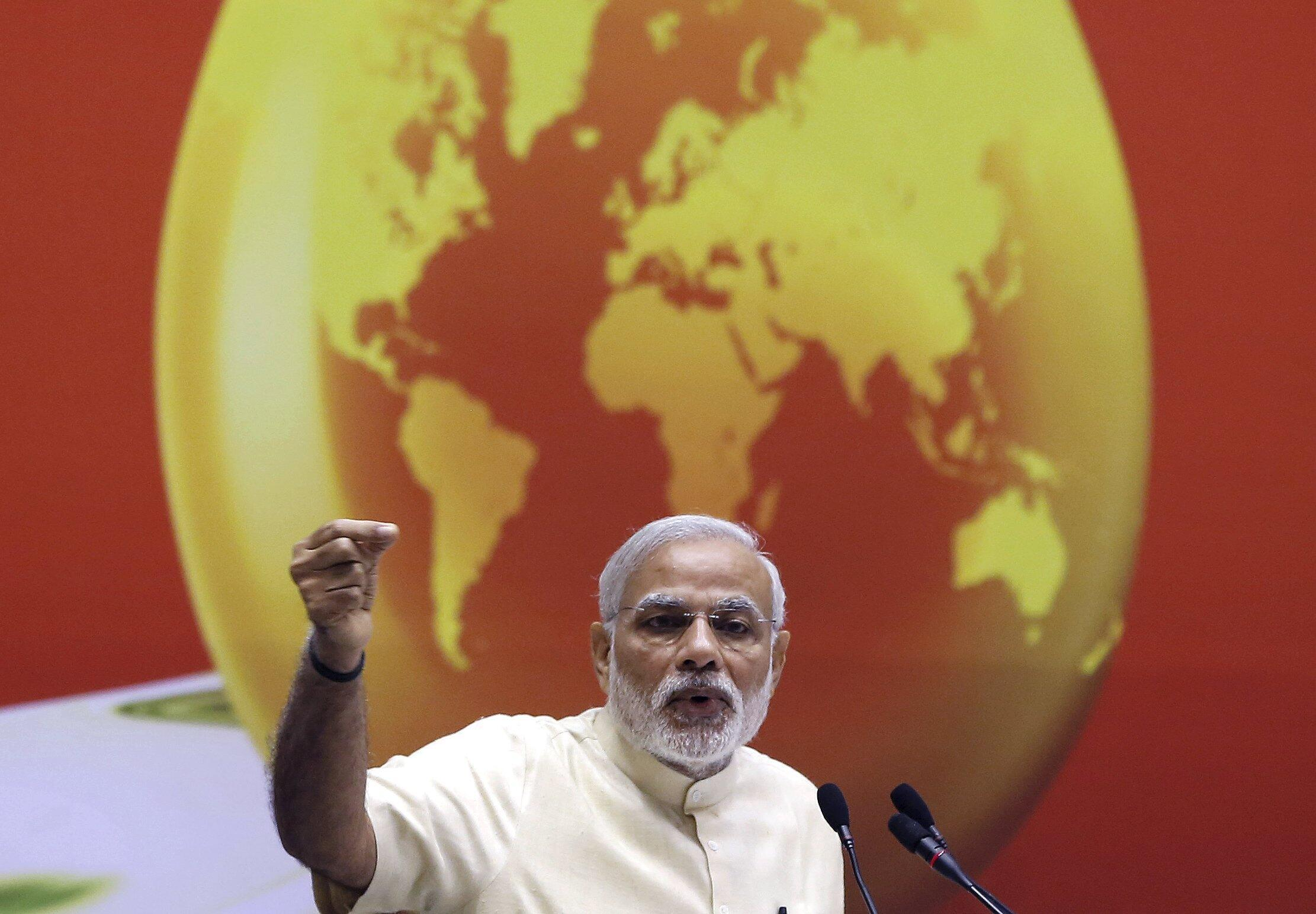 Le Premier ministre indien Narendra Modi, le 27 mars 2015, à New Delhi.