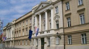 Le Sabor, Parlement de Croatie, à Zagreb.
