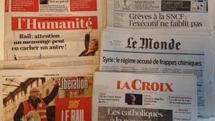 Primeiras páginas dos jornais franceses de 09 de abril de 2018