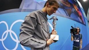 """菲尔普斯获得""""奥运史上最伟大的运动员""""称号"""