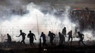 تظاهرات فلسطینی ها در مرز غزه - اسرائیل، هشتم ژوئن