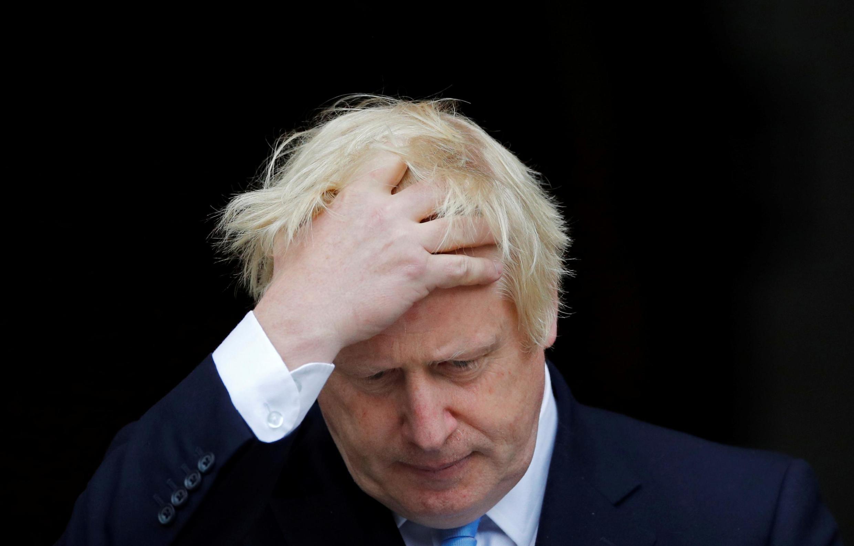 Le Premier ministre britannique Boris Johnson, après une rencontre avec son homologue irlandais Leo Varadkar, à Dublin le 9 septembre 2019.