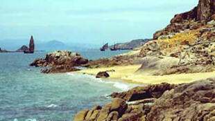 钓鱼岛近景图