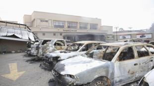 Centre commercial Westgate de Nairobi, le 26 septembre 2013 après l'attaque.