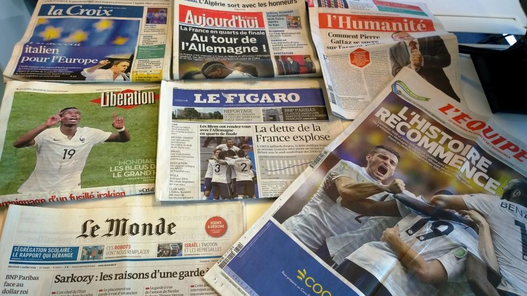 Diários franceses 01/07/2014