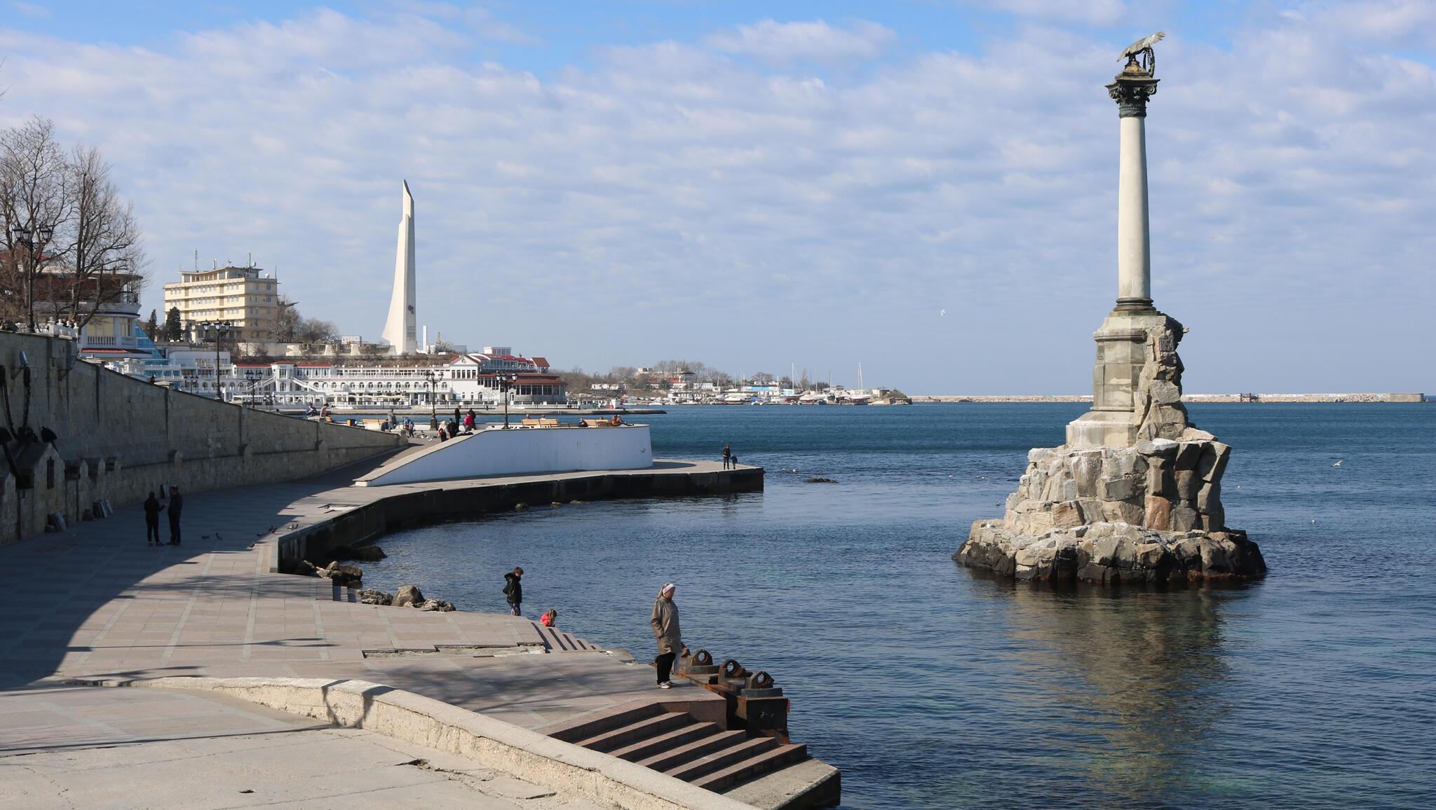 Sur les rives de Sébastopol en Crimée.