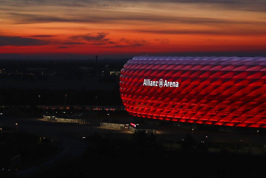 Allianz Arena em Munique, na Alemanha.