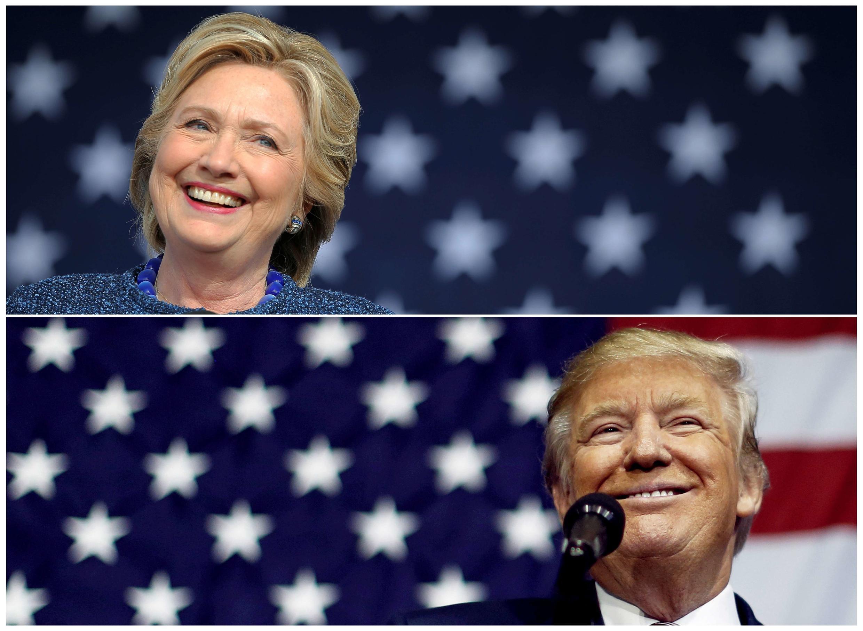 Hillary Clinton e  Donald Trump  2016