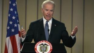 Joe Biden durante visita a Bogotá, na segunda-feira 27 de maio de 2013.