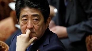 Thủ tướng Nhật Bản Shinzo Abe tại buổi họp Quốc Hội, Tokyo, ngày 16/05/2016.