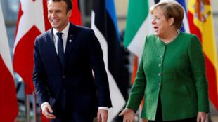 Le président français Emmanuel Macron et la chancelière allemande Angela Merkel s'étaient rencontrés à Paris pour discuter des principales réformes de la zone euro.
