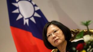 图为台湾总统蔡英文