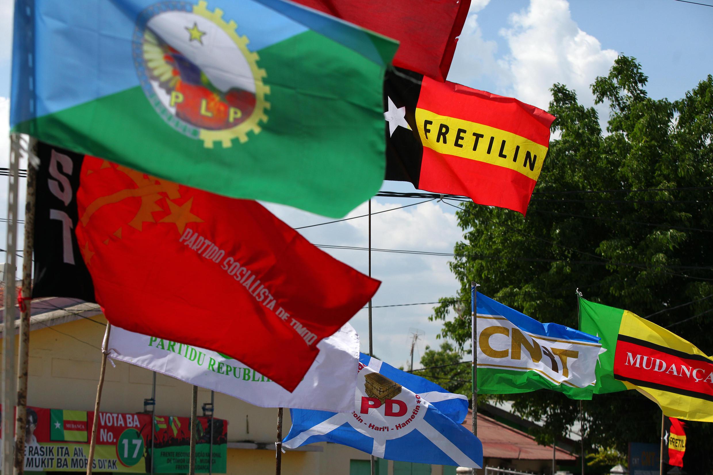 Aspecto da mobilização partidária em Timor durante a campanha que antecedeu as eleições legislativas de 22 de Julho de 2017.