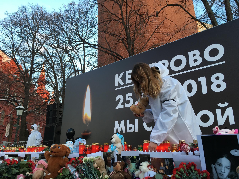 Акция памяти погибших при пожаре в Кемерове – Манежная площадь, Москва, 27 марта 2018