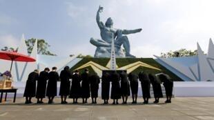 Cerimônia em memória das vítimas de Nagasaki.